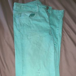 Turquoise American Eagle Jeans